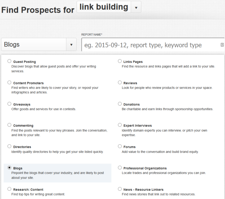 Citation Labs' Link Prospector